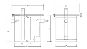 custom grease trap diagram