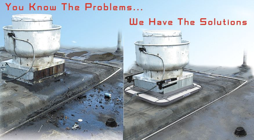 Rooftop grease solutions for fan discharge